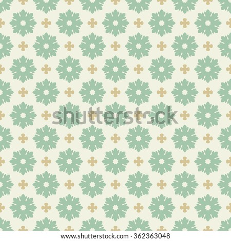 Vector seamless damask pattern. Ornate vintage background - stock vector