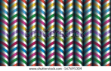 Vector seamless decor. Zigzag of satin ribbons. - stock vector
