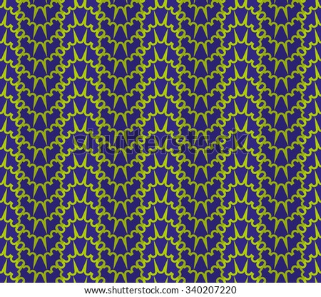 Vector seamless decorative pattern with colorful geometric wave - stock vector