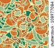 vector seamless ethnic doodle  pattern, fully editable eps 8 file with clipping mask, pattern in swatch menu - stock vector