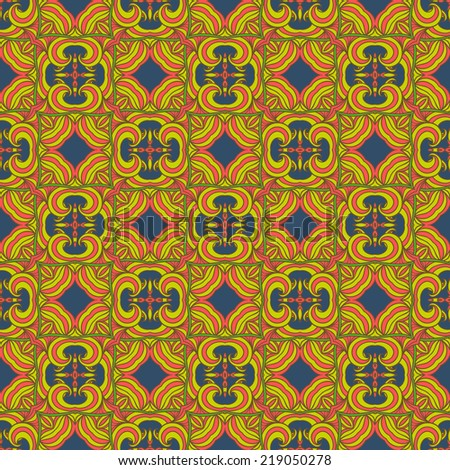 Vector seamless ethnic print pattern. Abstract ornate background. Suitable for various designs, fabric, invitation and scrapbooking