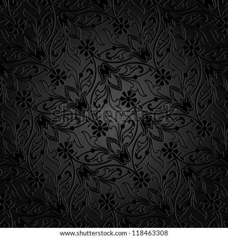 Vector. Seamless floral background - stock vector