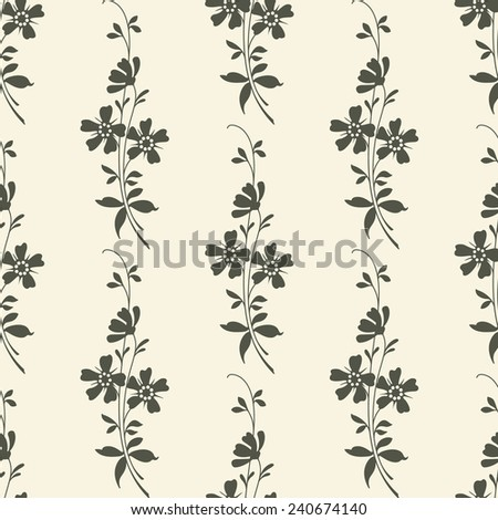 Vector Seamless Floral Background - stock vector