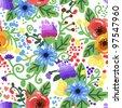 vector seamless floral beautiful texture - stock vector
