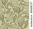 "Vector seamless floral leafs pattern (from my big ""Floral collection"") - stock photo"