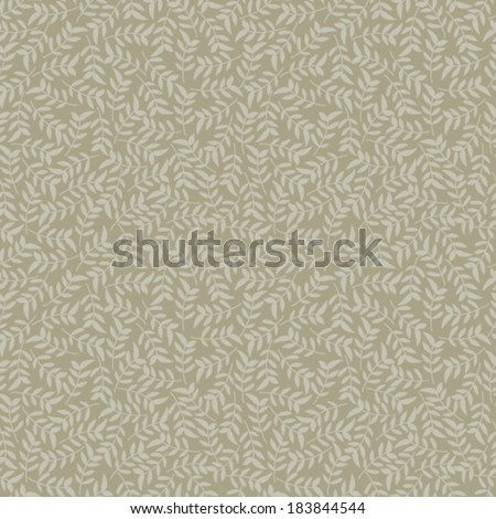 Vector seamless floral pattern. - stock vector