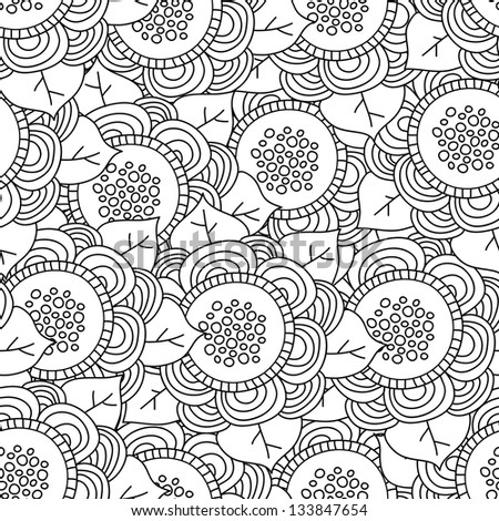 Vector seamless floral retro pattern. Vintage vector seamless pattern. Can be used for wallpaper, pattern fills, web page background, surface textures, prints. Gorgeous seamless wave background - stock vector