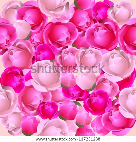 Vector seamless floral texture