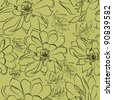 Vector seamless floral vintage pattern - stock vector