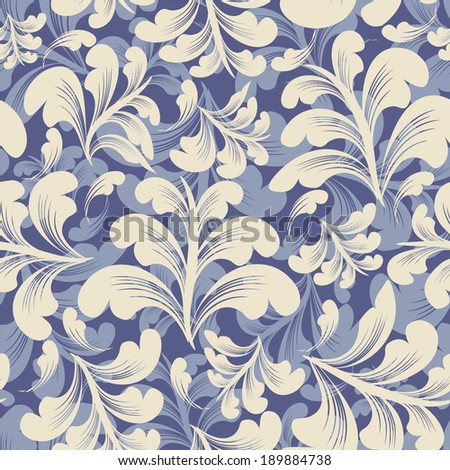 vector seamless floral wallpaper. vintage style. - stock vector
