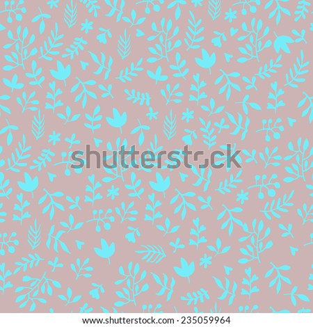 Vector seamless flowers pattern  - stock vector