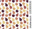 Vector seamless fruit pattern- apple and pear - stock vector