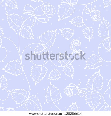 vector seamless gentle floral background - stock vector