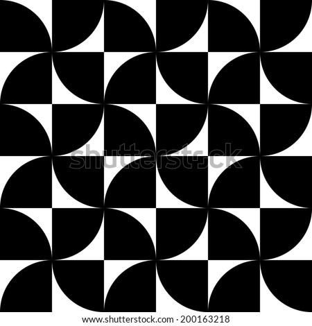 Vector Seamless Geometric Background - stock vector