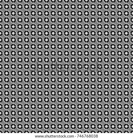 Vector seamless geometric pattern of white, gray and black tiles.