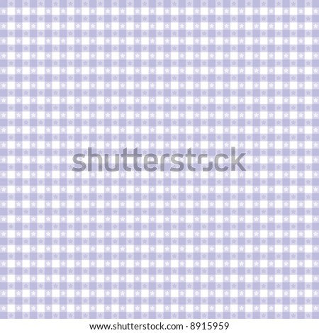 vector, Seamless Gingham Pattern, pastel lavender and white for sewing, decorating, backgrounds. EPS8 file includes pattern swatch that seamlessly fills any shape. - stock vector