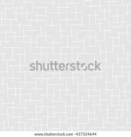 Vector seamless grey background with a simple horizontal and vertical strokes. Cross pattern. Fabric textile print