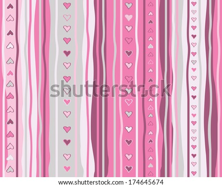 Vector seamless  heart pattern. - stock vector