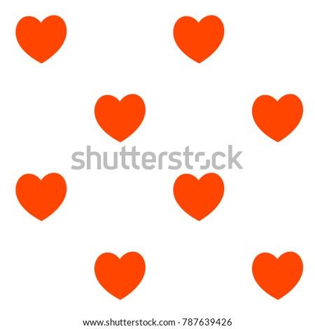 Vector Seamless Heart Pattern Love Symbol Stock Vector 787639426