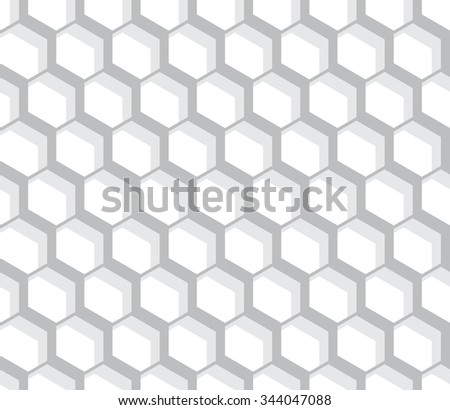 vector seamless hexagon pattern. endless texture monochrome. abstract geometric ornament background.