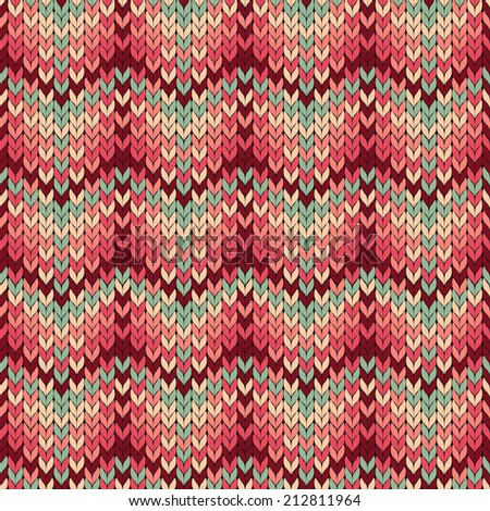 Vector seamless knitted pattern in ethnic style