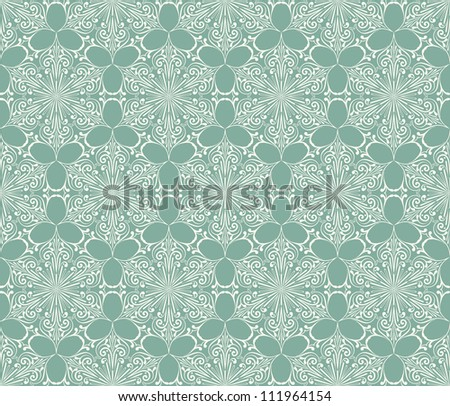 Vector Seamless Lacy Winter Pattern with Snowflakes, fully editable eps 8 file with clipping mask and pattern in swatch menu - stock vector
