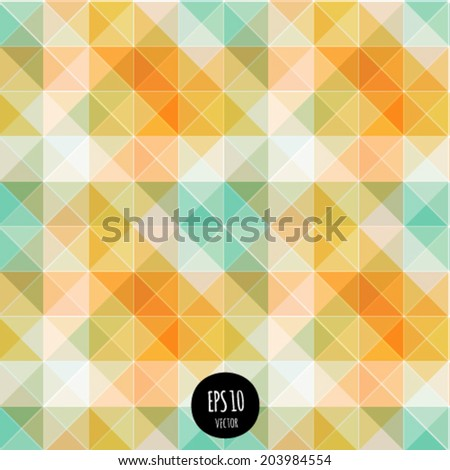 Vector seamless lights abstract background. Vibrant futuristic geometric shapes pattern. Colorful modern style fashion design. Multicolored triangle texture. digital backdrop.