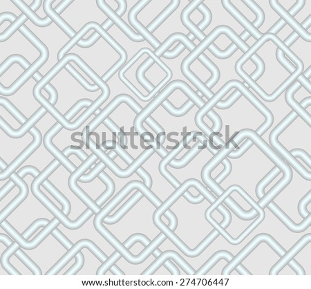 Vector seamless low contrasting background, rhomboid metallic patterns on light gray area