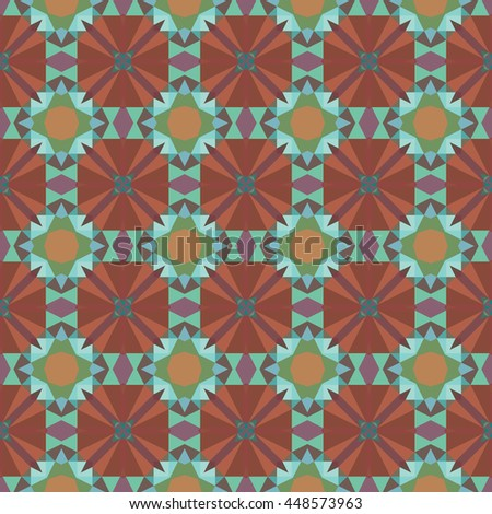 Vector seamless mosaic abstract pattern