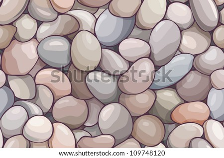 vector seamless offset pattern with pebble-stones - stock vector