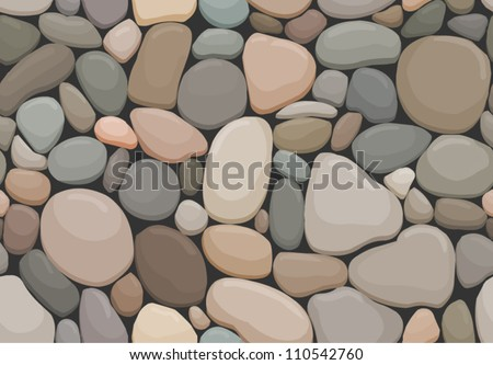vector seamless offset pattern with pebbles - stock vector