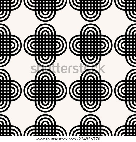 Vector Seamless Oriental Pattern - stock vector