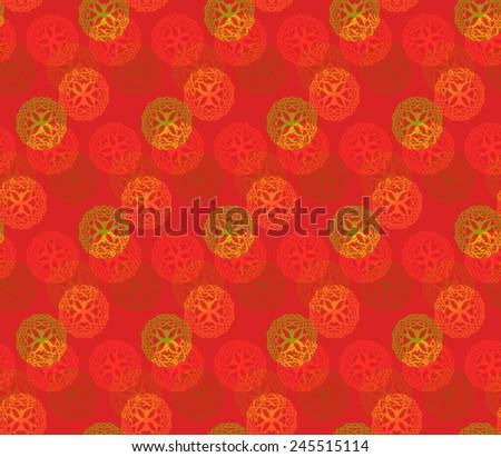 Vector Seamless Oriental Pattern - stock vector