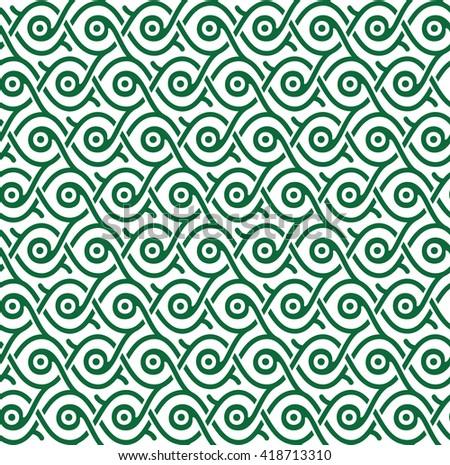Vector seamless ornament pattern - stock vector