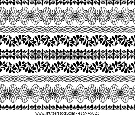 Vector seamless ornamental border.