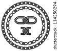 vector seamless ornamental knot frames - stock vector