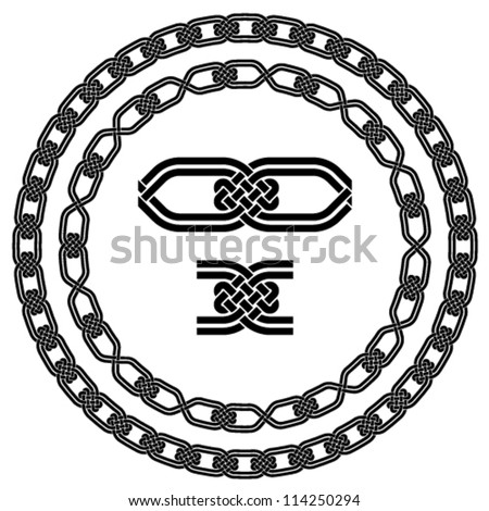 vector seamless ornamental knot frames - stock vector