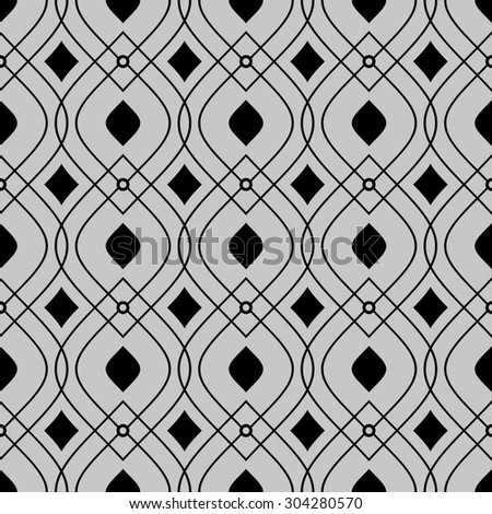 vector seamless ornamental pattern - stock vector