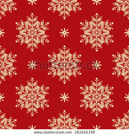 Vector seamless patter element with elegant snowflakes. Nice background for  Christmas and New Year designs.  - stock vector
