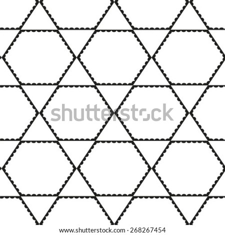 Vector seamless pattern. - stock vector