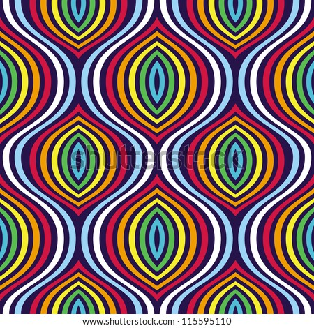 Vector seamless pattern - abstract background in rainbow colors - stock vector