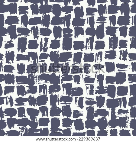Vector seamless pattern. Abstract background with brush strokes. Monochrome hand drawn texture
