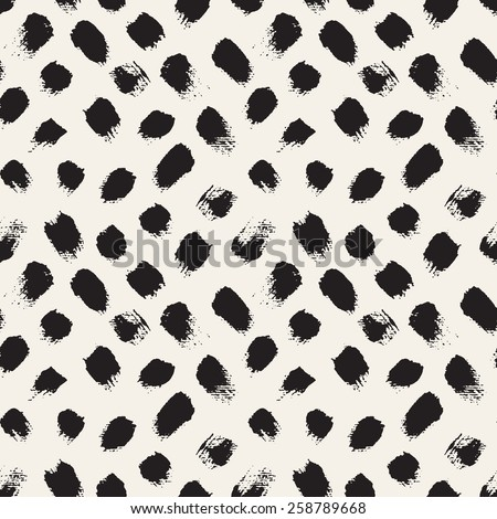 Vector seamless pattern. Abstract background with brush strokes. Monochrome hand drawn texture. Modern graphic design. - stock vector