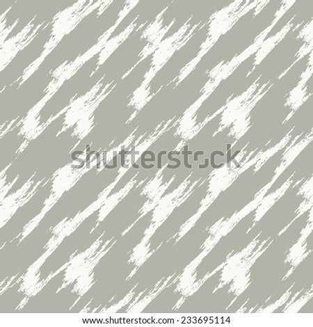 Vector seamless pattern. Abstract background with diagonal brush strokes. Monochrome hand drawn texture - stock vector