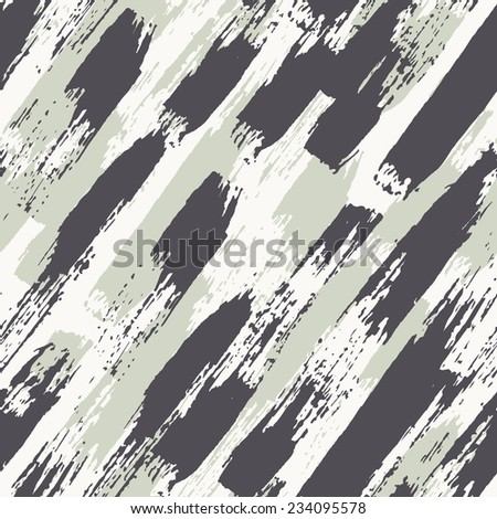 Vector seamless pattern. Abstract background with diagonal brush strokes. Painted hand made texture - stock vector