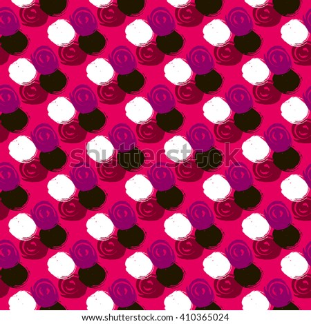 Vector seamless pattern. Abstract background with round brush strokes.