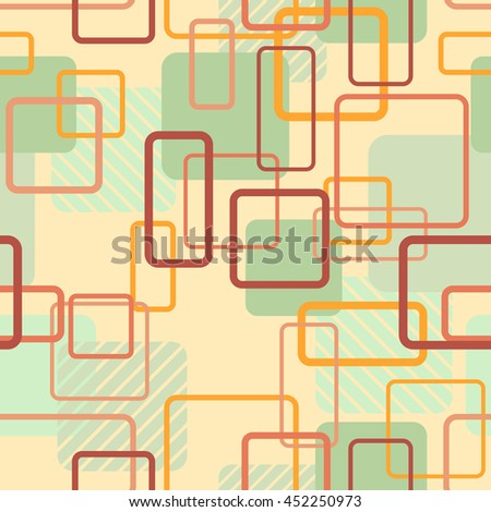 Vector seamless pattern. Abstract colorful background with bright square tiles.