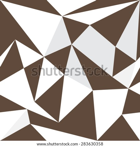 Vector seamless pattern, abstract geometric background illustration - stock vector