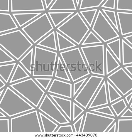 Vector seamless pattern. Abstract grey geometric background - stock vector