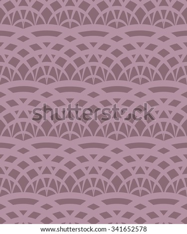 Vector seamless pattern, abstract lace texture, marsala background  - stock vector